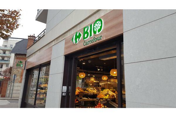 vue extérieure franchise Carrefour Bio