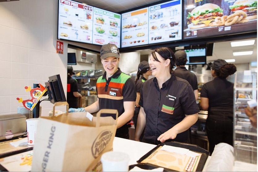 caisse franchise Burger King