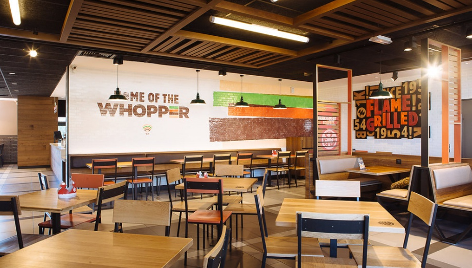 intérieur restaurant Burger King