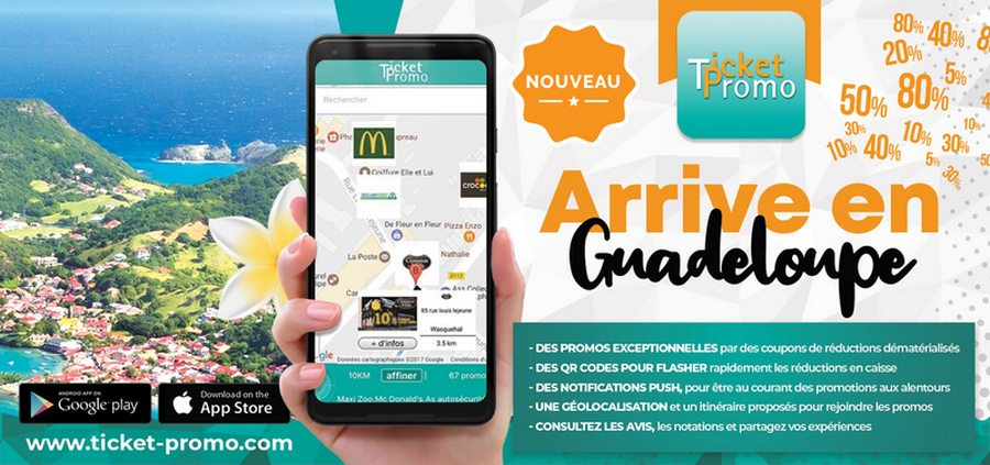 Ticket Promo arrive en Guadeloupe