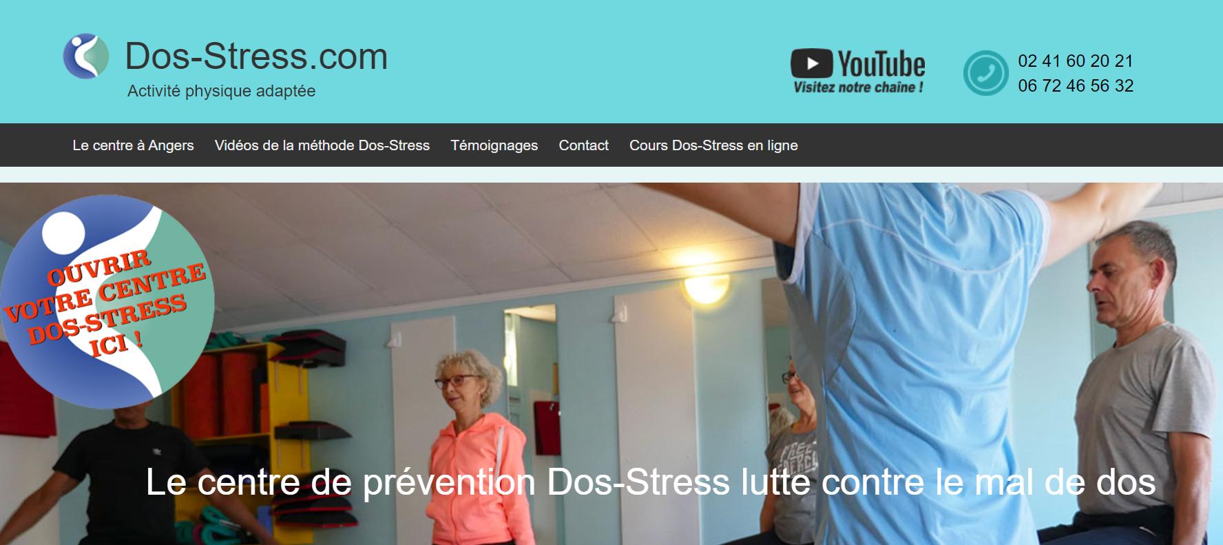 site Internet franchise Dos Stress