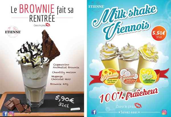 Milk Shake Viennois et Brownie