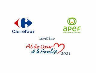 Apef et Carrefour, les deux gagnants des As de Cœur de la franchise, millésime septembre 2021