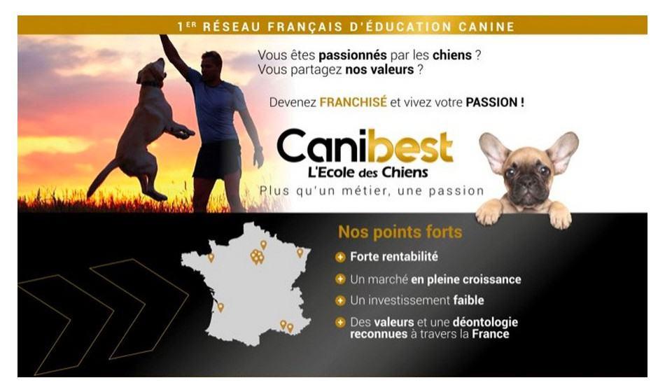 Devenir franchisé Canibest L'Ecole des Chiens
