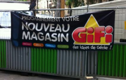 Magasin Gifi rue d'Alesiia