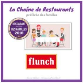 06b796e7fac41 Le réseau de franchise Flunch remporte le prix de « Restaurant préféré des  familles 2018 »