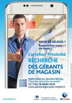Carrefour proximit participe au salon virtuel p le emploi for Salon virtuel de la franchise