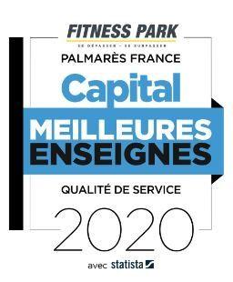 """Fitness Park dans le Top 3 du palmarès des '' Meilleures Enseignes 2020 """""""