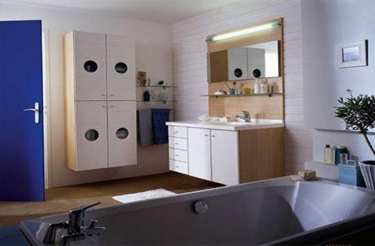 Franchise cuisinella les nouvelles salles de bains - Panneau mdf laque blanc ...