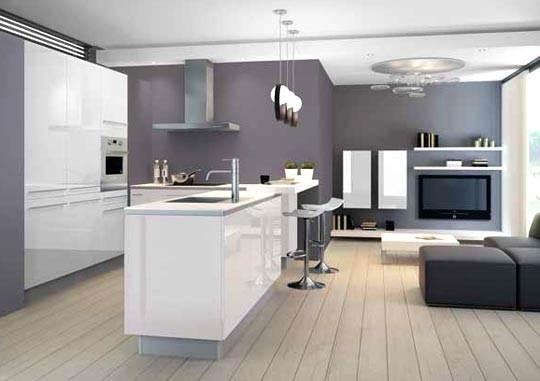 Cuisine dessin cuisine blanc laqu et plan de travail blanc along with cuis - Cuisinella plan de travail ...