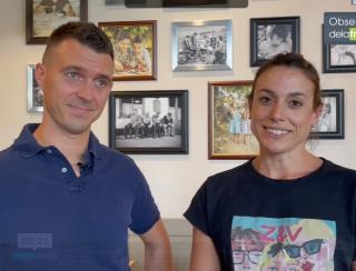 Caroline et Romain Souletis, Franchisés Del Arte à Annglet