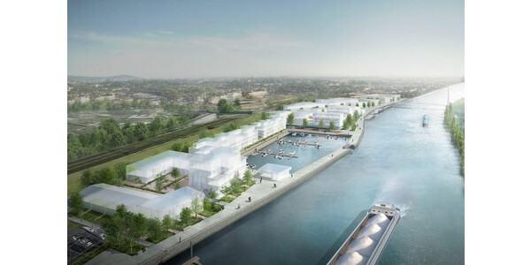 Un Éc'eau port fluvial urbain à Creil